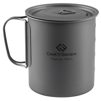 COOK'N'ESCAPE Lightweight Titanium Pot with Lid 750ml CA2011