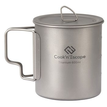 COOK'N'ESCAPE Lightweight Titanium Pot with Lid 600ml CA2014