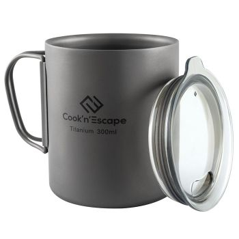 COOK'N'ESCAPE Titanium Doub Wall Camping Cup 300ml CA2012